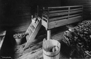 história da origem da sauna